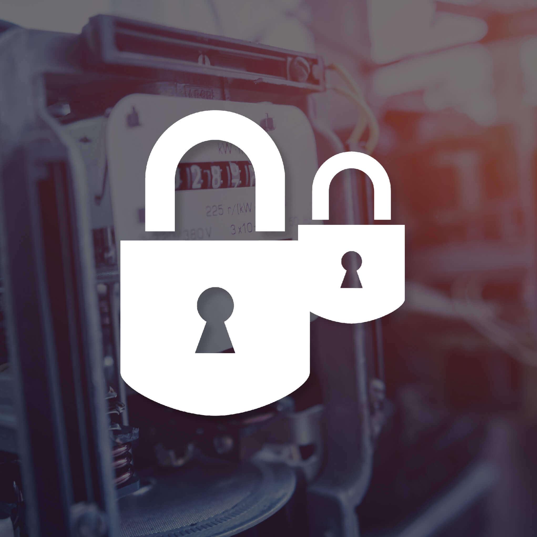 white padlock icons security seal